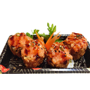 Futomaki Hot Roll Polpa di Granchio e Salmone - 4 Pezzi